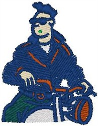 Biker embroidery design