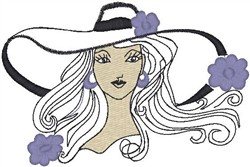 Hat Girl embroidery design