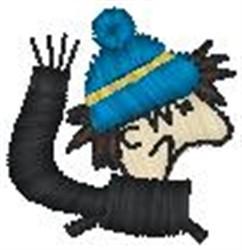 Grumpy Boy embroidery design
