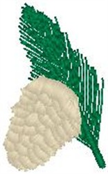 Pinecone embroidery design