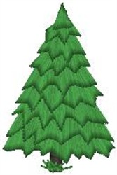 Pinetree embroidery design