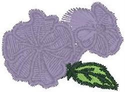 Violet embroidery design
