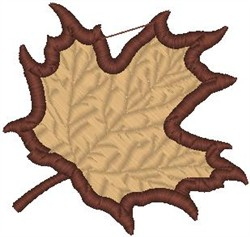 Brown Maple Leaf embroidery design