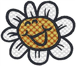 Happy Flower embroidery design