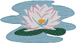 Lilly Pad embroidery design