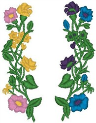 Climbing Flowers embroidery design