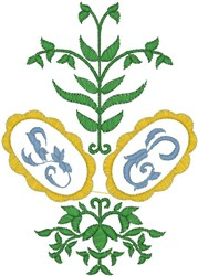 Green Plant embroidery design