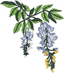 Blossoming Tree Branch embroidery design