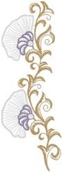 Flower on Brown Stem embroidery design