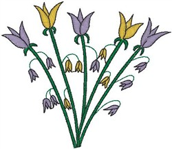 Tulips on Stems embroidery design
