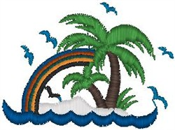 Tropical Rainbow embroidery design