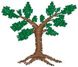 Trimmed Tree embroidery design