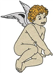 Shy Cupid embroidery design