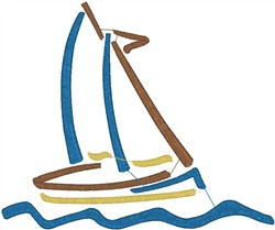 Sailboat7 embroidery design