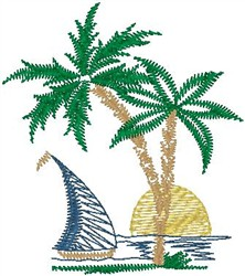 Paradise embroidery design