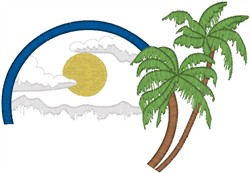 Coconut Trees embroidery design