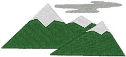 Ice Mountain embroidery design