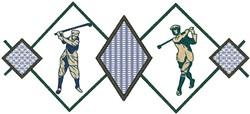 Golfer Diamonds embroidery design