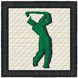 Golfer Frame embroidery design