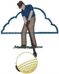Golfer Closeup embroidery design