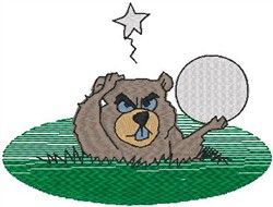 Gopherball embroidery design