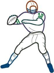 Quarterback embroidery design
