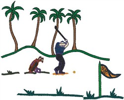 Golf Course embroidery design