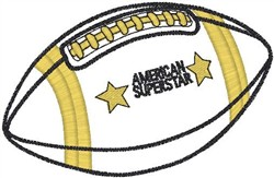 American Football embroidery design