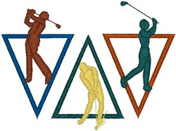 Golf Triangles embroidery design