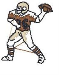 Football QB embroidery design