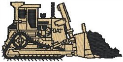 Bulldozer embroidery design