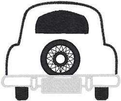 Car Rear embroidery design