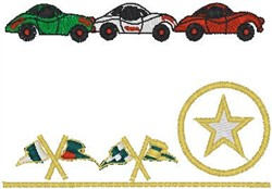 Racecars embroidery design