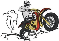 Dirt Bike Rider2 embroidery design