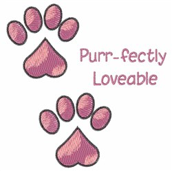 Purr-fectly Loveable embroidery design