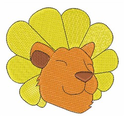 Dandy Lion Head embroidery design