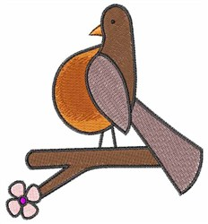 Big Breasted Robin embroidery design