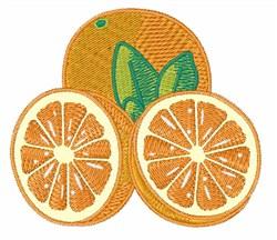 Oranges embroidery design