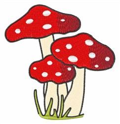 Polka Dot Mushrooms embroidery design
