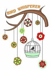 Bird Whisperer embroidery design