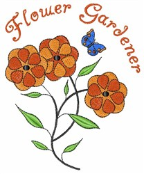 Flower Gardener embroidery design