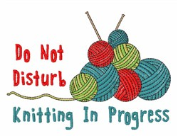 Knitting In Progress embroidery design