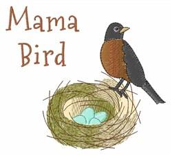 Mama Bird embroidery design