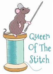 Queen of the Stitch embroidery design