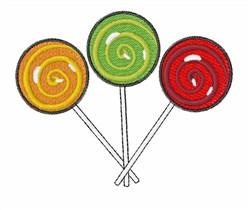 Lollipops embroidery design