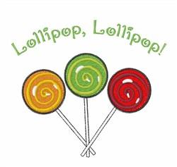 Lollipop Lollipop embroidery design