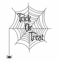 Trick Or Treat Web embroidery design