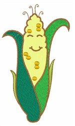 Smiling Corn Husk embroidery design