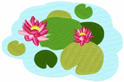 Water Lilies embroidery design