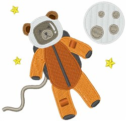 Astronaut Bear embroidery design